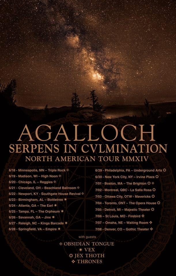 Agalloch Announce Serpens In Culmination North
